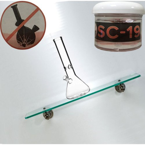 SC-19 GLASS GLUE NO RESIDUE EARTHQUAKE FRIENDLY NO BREAKAGE SAVE YOUR GLASS by SC-19