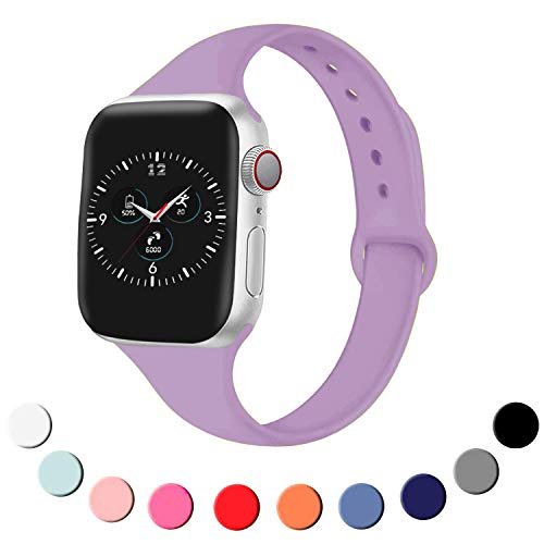 EPSKY Slim Silicone Band thin narrow replacement strap for Iwatch