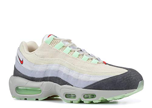 Nike Mens Air Max 95 HW QS Halloween Summit White/Grey Canvas Running, Cross Trainers Size 10.5