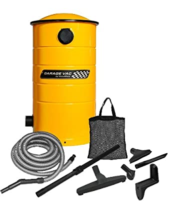 VacuMaid GV30Y Wall Mounted Garage and Car Vacuum with 30 ft hose and Tools