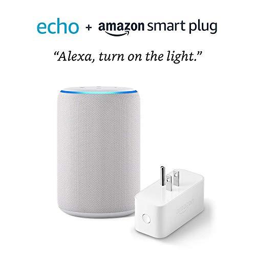 All-new Echo (3rd Gen) bundle with Amazon Smart Plug – Sandstone