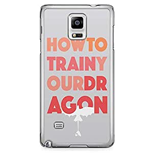 Loud Universe Minimal Typography How to train your dragon Samsung Note 4 Case Samsung Note 4 Cover with Transparent Edges