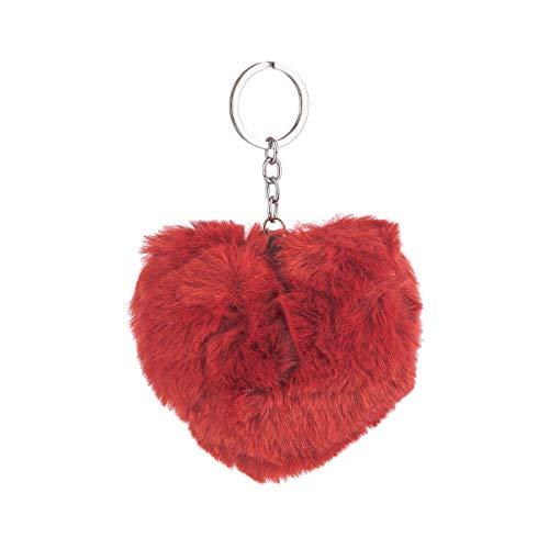 Chaveiro Pelúcia Coração Lily Vermelho