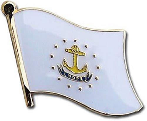 (US Flag Store Rhode Island Flag Lapel Pin)