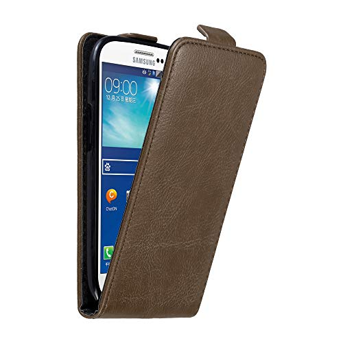 Cadorabo Case Works with Samsung Galaxy S3 / S3 NEO in Coffee Brown - Flip Style Case with Invisible Magnetic Closure - Wallet Etui Cover Pouch PU Leather Flip (Galaxy S3 Flip Case Yellow)