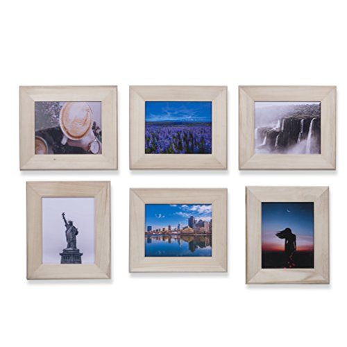 WALLNITURE Home or Office Decor Picture Frames Unfinished Wood for 10x8 Inch Photos Set of (Plaque 8x10 Photo)