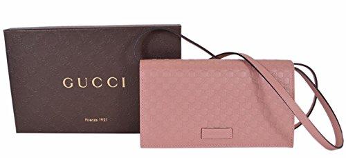 8ec50502318 Amazon.com  Gucci Leather Micro GG Guccissima Crossbody Mini Purse (Soft  Pink)  Clothing
