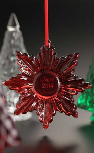 Baccarat 2014 Annual Noel Ornament, Red Mirror (Baccarat Ornament Christmas)
