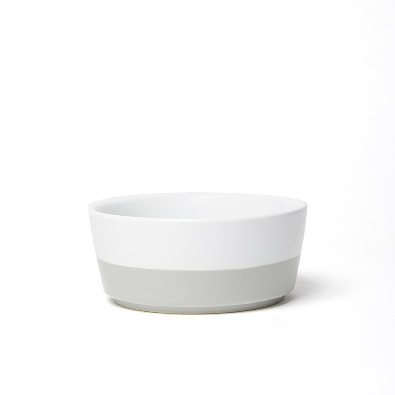 Waggo Dipper Ceramic Dog Bowl Medium, Light Grey