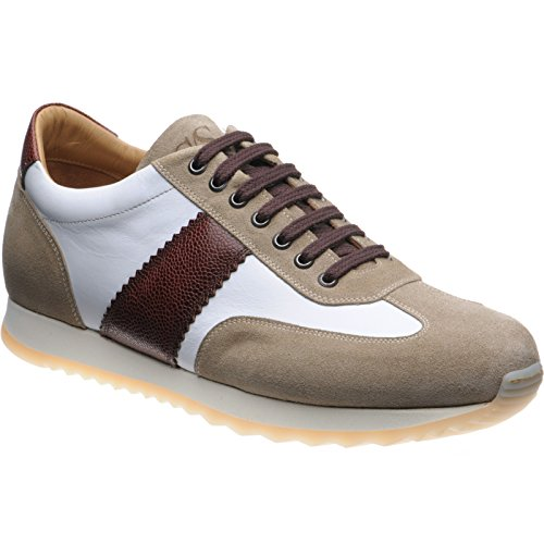 Herring  Herring Thruxton, Chaussures de ville à lacets pour homme Brown White Taupe