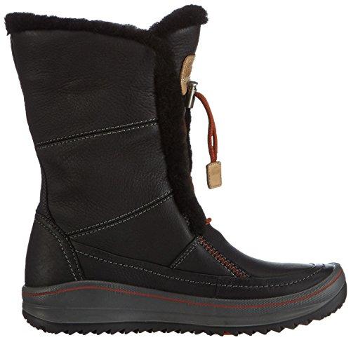 Ecco Womens Trace Tie Hydromax Snow Boot Schwarz