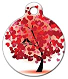 Love Birds – Custom Pet ID Tag for Dogs and Cats – Dog Tag Art – LARGE SIZE