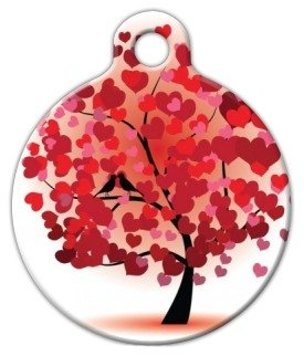 Love Birds – Custom Pet ID Tag for Dogs and Cats – Dog Tag Art – LARGE SIZE, My Pet Supplies