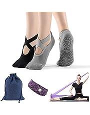 Calcetines de yoga para pilates, calcetines antideslizantes, calcetines de barra, calcetines de agarre para mujer, los mejores regalos de yoga para mujer
