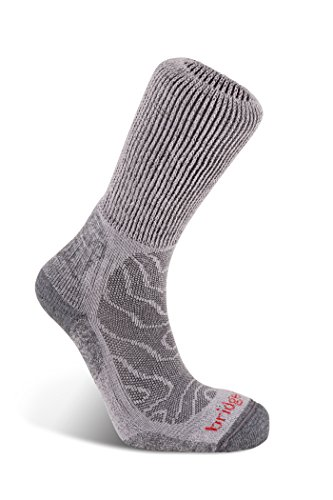 Bridgedale Mens Trail Merino Fusion Socks, Large, Grey