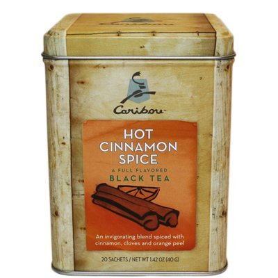 2 - Caribou Tea Tins 20 - Sachets per Tin (Hot Cinnamon Relish Tea)