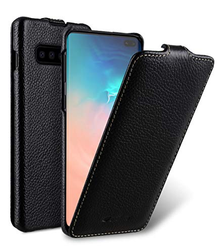 Melkco Premium Leather Case for Samsung Galaxy S10+ - Jacka Type (Black LC) ()