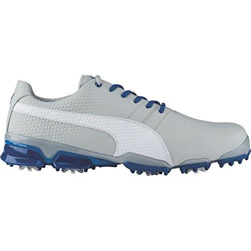 PUMA Men's Titantour Ignite Golf-Shoes, Gray Violet-Puma White-True Blue, 12 Medium US