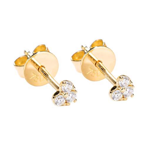 Unique Diamond stud earrings women's 18k gold genuine heart-shaped gold earrings earrings thread earrings pendant sweetheart birthday gift present stud earrings for women