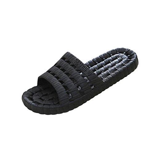 Inkach Mens Pantofole Da Bagno - Sandali Moda Estate Sandali Antiscivolo Scarpe Basse Infradito Nere