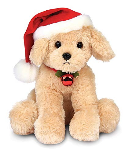 Bearington Santa's Lil' Buddy Musical Animated Holiday Stuffed Animal Toy Dog, 13 inches (Bear Song For Teddy Christmas)