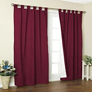 Weathermate Solid Cotton Tab Top Curtain Panel Pair Size 72 H X 80 W Color