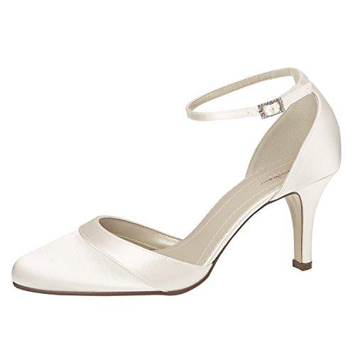 Bride Coloured Blanc cheville Blanc Elsa femme Shoes E0Ozdxq