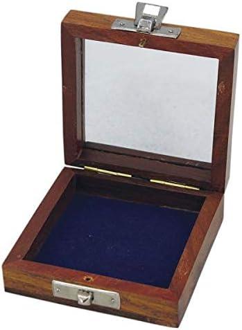 Pequeña Caja de Madera con Tapa de Cristal para brújula, etc.: Amazon.es: Juguetes y juegos