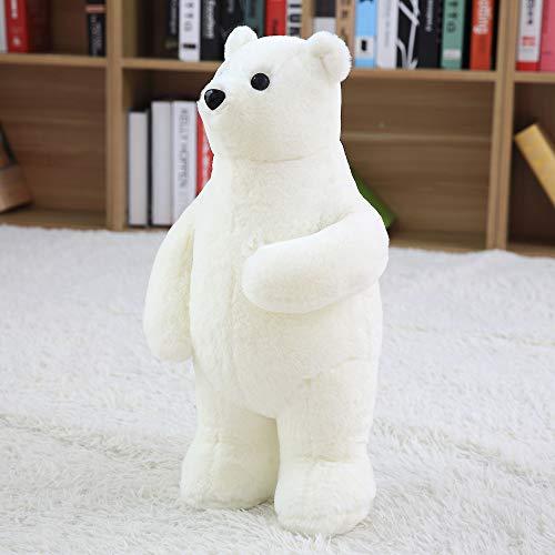 (VERCART Cuddly Stuffed Animals Plush Polar Bear Teddy Bear Toy Doll for Birthday Children's Day Valentine's Day White 20 Inches)