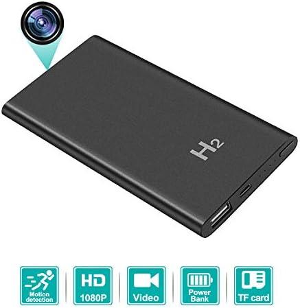 HD 1080P 5000mAH Hidden Spy Power Bank Camera, AMCSXH Protable Nanny Cam, Security Cam, Battery Long Time Recording, No WiFi Needed Spy Camera