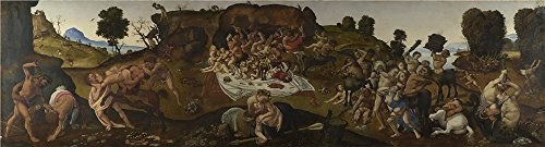 [High Quality Polyster Canvas ,the High Resolution Art Decorative Canvas Prints Of Oil Painting 'Piero Di Cosimo The Fight Between The Lapiths And The Centaurs ', 30 X 111 Inch / 76 X 282 Cm Is Best For Living Room Artwork And Home Gallery Art And] (Duckbill Costume Pattern)