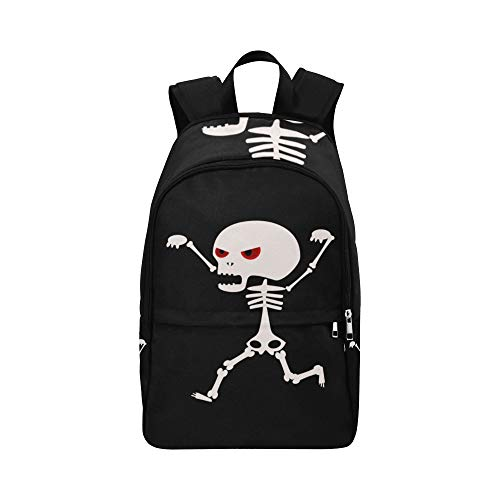 Cute Kawaii Skeleton Halloween Casual Daypack Travel Bag College School Backpack for Mens and Women ()