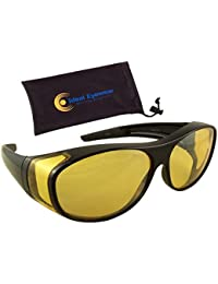 Night Driving Wear Over Glasses Yellow Lens Fit Over Glasses