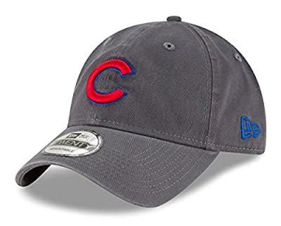 New Era Chicago Cubs MLB 9Twenty Twill Core Classic Adjustable Graphite Hat from New Era