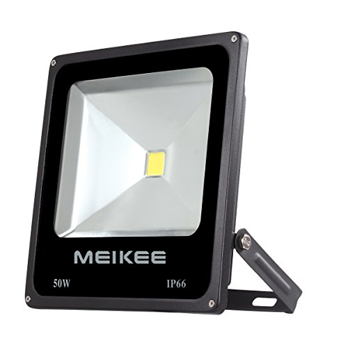 MEIKEE 50W Outdoor LED Flood Lights, 3750 Lumen, 150W HPS Bulb Equivalent, IP66 Waterproof, Outdoor Floodlight, Security Lights(Daylight White) - Hps Floodlight