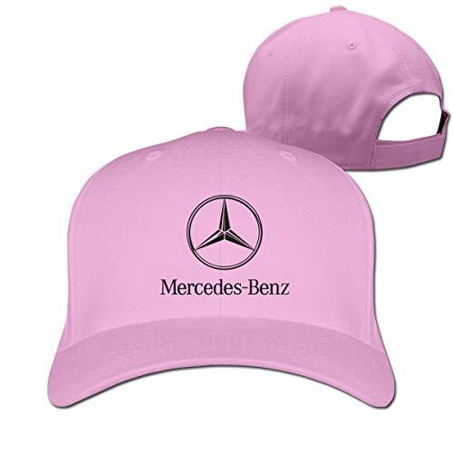Ruige Hongke Cool Mercedes Benz Logo Adjustable \r\n Baseball Hat for Men Women,Pink