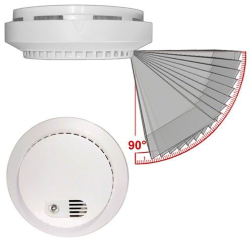 PalmVID WiFi Smoke Detector Hidden Camera Spy Camera with Live Video Viewing and Adjustable View