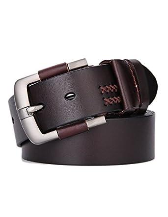 weinida mens grain leather vegetable tanned belt