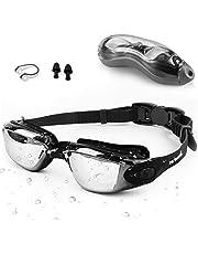 Zerhunt Simglasögon vuxna män barn – spegel simglasögon anti-dimma med UV-skydd läcker inte med näsklämma och öronproppar, designade för män kvinnor barn