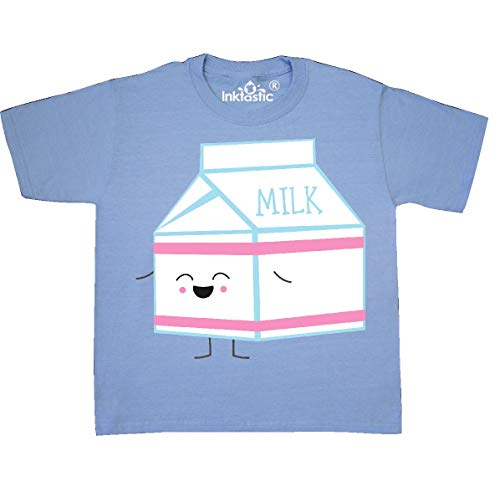 inktastic - Milk Carton Youth T-Shirt Youth Medium (10-12) Light Blue 31d12 ()
