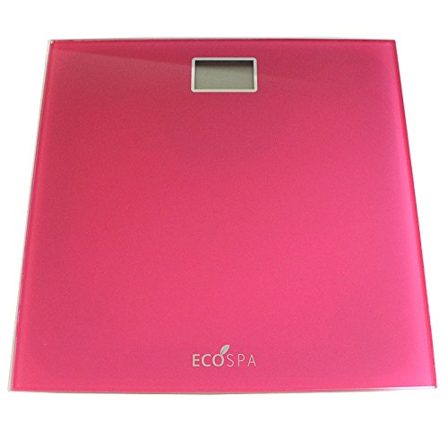 Electronic Digital LCD Body Weighing Bathroom Scales | Cosmic Pink | MAX 150KG | UNITS KG LBS ST | EcoSpa®