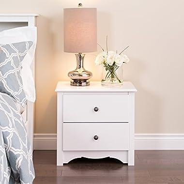 White Monterey 2 Drawer Nightstand