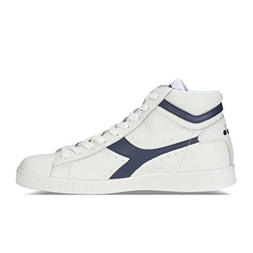 blu Sneaker Diadora bianco Uomo High Mar C6312 Alto a Caspio Bianco Game L Collo trtvg