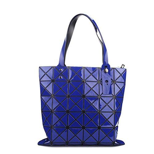 Unlimited energy Bolso de hombro de las señoras del bolso del diamante del bolso de las bolsas de asas de la PU Azul Oscuro