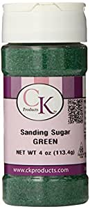 CK Products 4 Ounce Sanding Sugar Bottle, Green