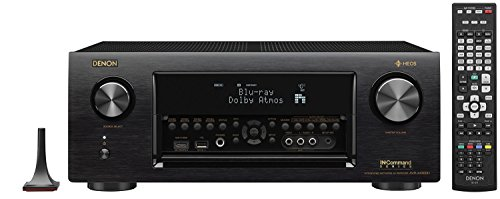 Denon AVRX4300H 9.2 Channel Full 4K Ultra HD AV Receiver with Built-in HEOS wireless technology featuring Bluetooth and Wi-Fi, Works with Alexa
