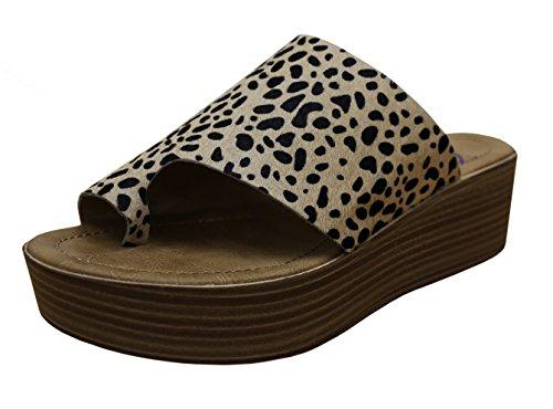 Leopard Platforms - Blowfish Women's Laslett Mule (8 B(M) US, Tan Leopard Calf Hair)