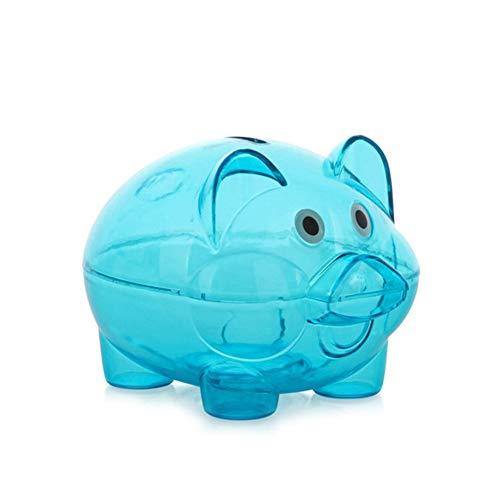 lzndeal Piggy Bank,Select Style,Durable,Portable,Money Box,Transparent Plastic Coins Savings Box Piggy Shape Money Box Piggy Bank for Coins -