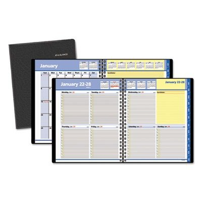 AT-A-GLANCE QuickNotes Recycled Weekly/Monthly Appointment Book, 8 x 10 Inches, Black, 2013 (A-glance Quicknotes Recycled Weekly)