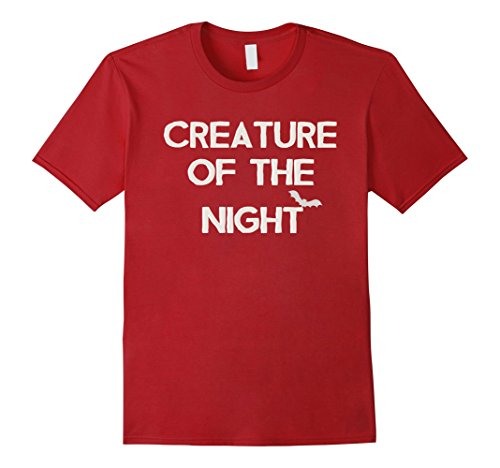 Of Costumes Night Halloween The Creatures (Mens Creature of The Night Shirt Spooky Halloween Costume Shirt 2XL)